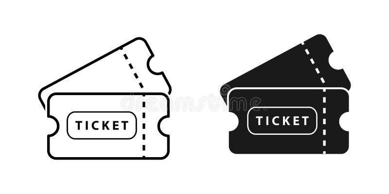 Ticket vector icon on white background for graphic design, logo, web site, social media, mobile app, ui illustration.  stock illustration