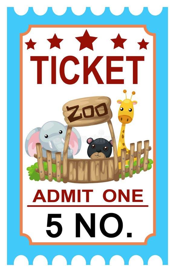 Ticket Zoo Vector Stock Vector Illustration Of Reading