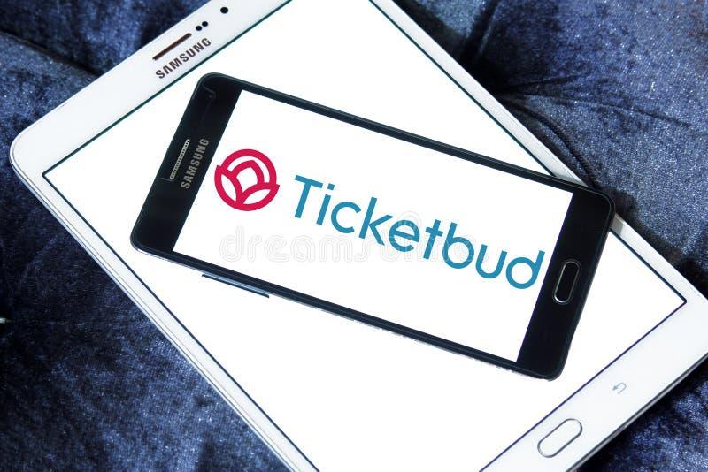Ticketbud-Firmenlogo lizenzfreie stockfotos