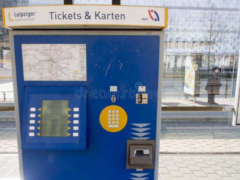 Ticketing machine Leipzig stock photography