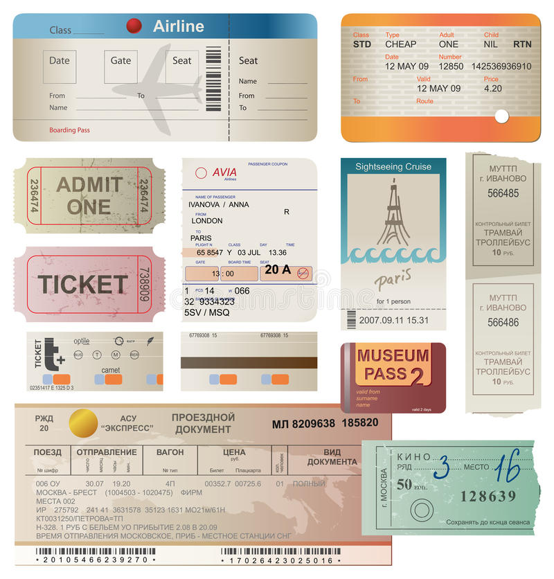 Download Tickets stock illustration. Image of design, 1940, coupon - 26723440
