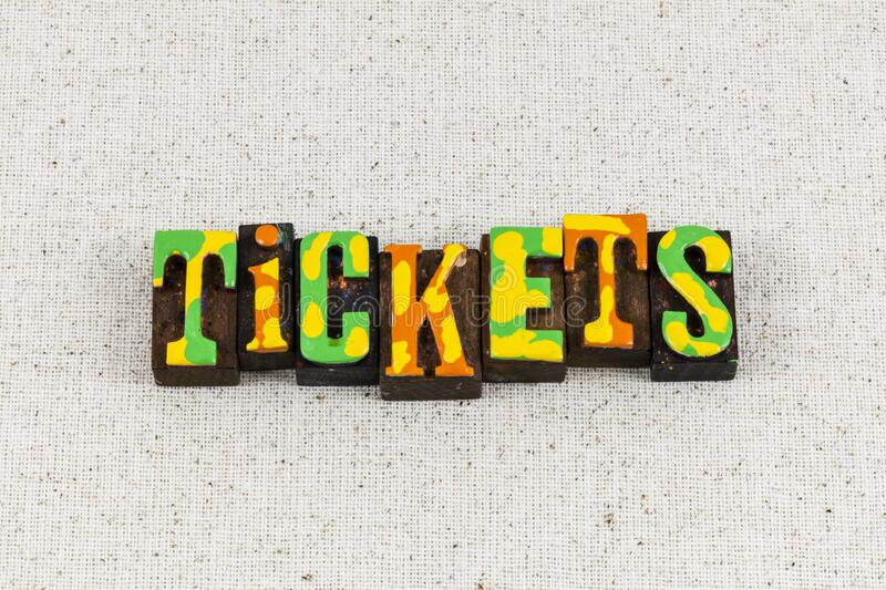 Tickets book cheap event admission sale coupon entrance ticket access. Tickets book cheap and event admission sale for coupon entrance ticket access.  Movie royalty free stock photos
