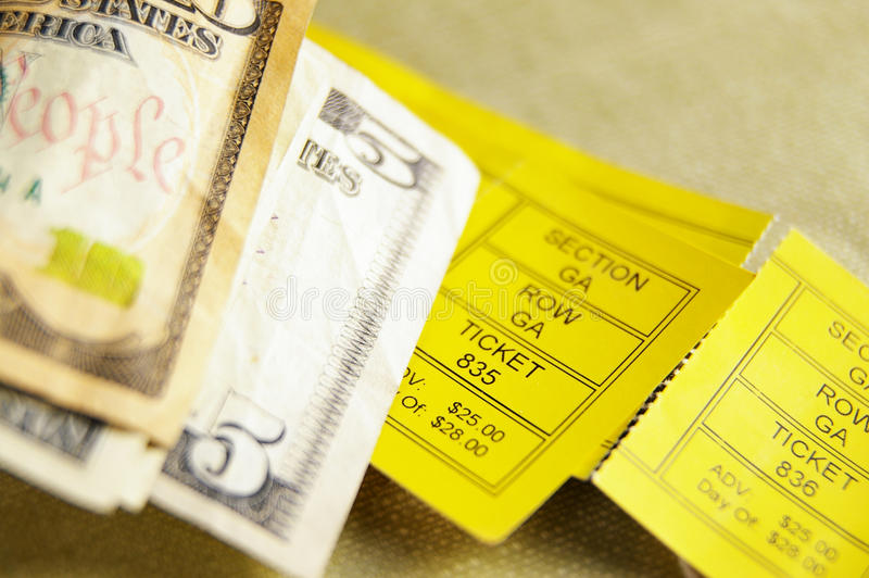 Download Tickets And Cash Stock Photography - Image: 12102772