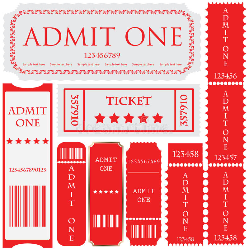 Download Tickets In Different Styles Stock Vector - Illustration: 18165936