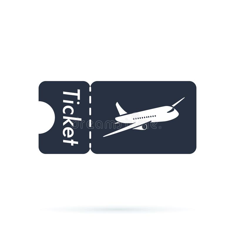 Tickets icon. Plane icon. Logo element. Web design icon with airplane template. Airlines travel concept business symbol. stock illustration