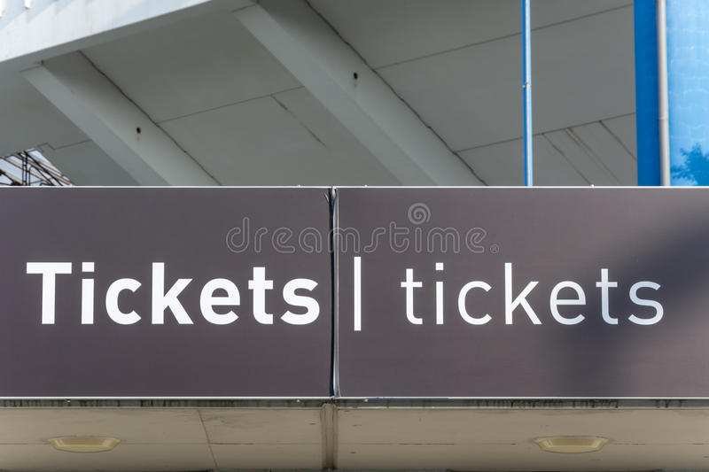 Tickets office at the Nuremberg football stadium royalty free stock photo