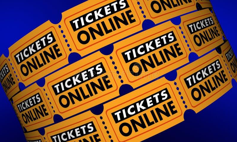 Tickets Online Buy Movie Theater Passes Internet stock illustration