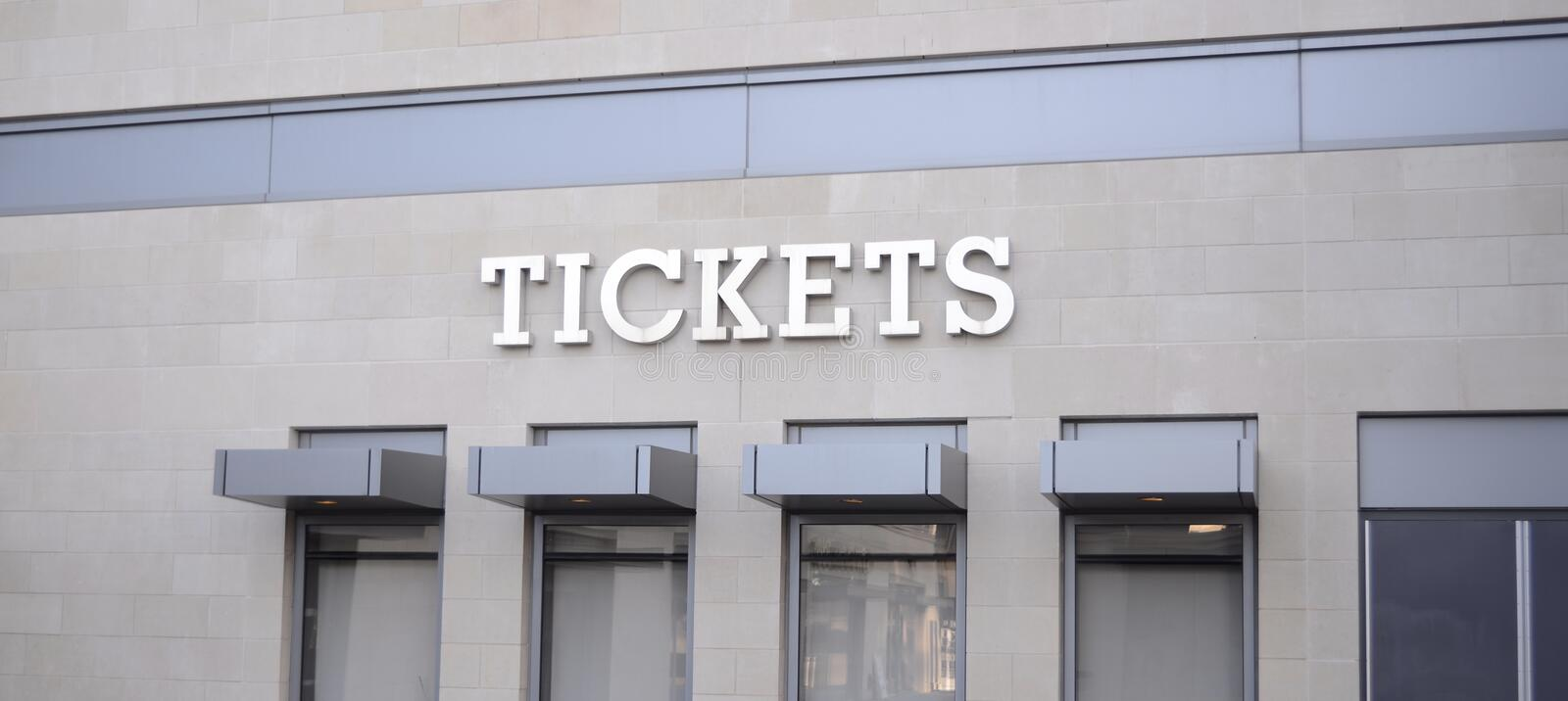 Tickets for Sporting Events, Concerts and Playhouse Venues royalty free stock image