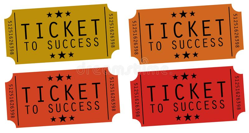 Ticket to success stock illustration