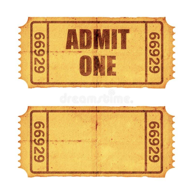 tickets two στοκ φωτογραφίες
