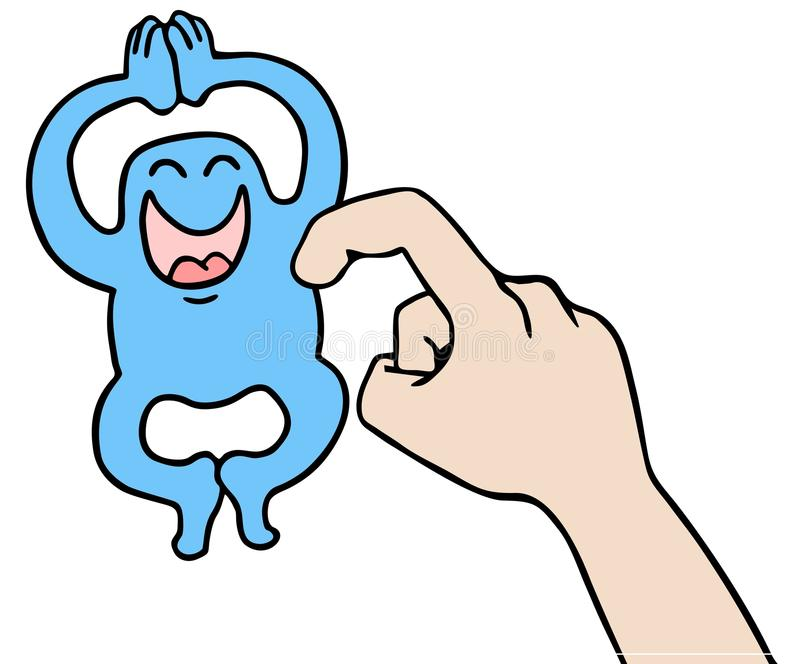 Tickle Puppet Royalty Free Stock Image