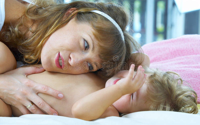 Tickling Royalty Free Stock Images