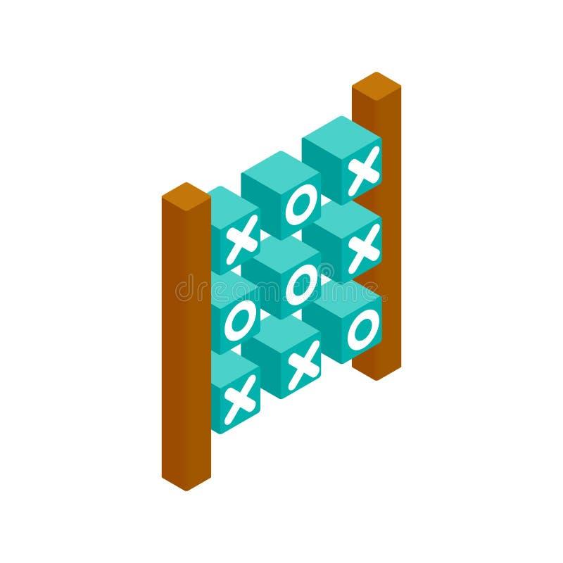 Tictac het isometrische 3d pictogram van het teenspel royalty-vrije illustratie