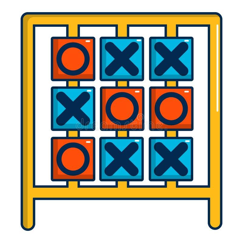 Tictac het pictogram van het teenspel, beeldverhaalstijl stock illustratie