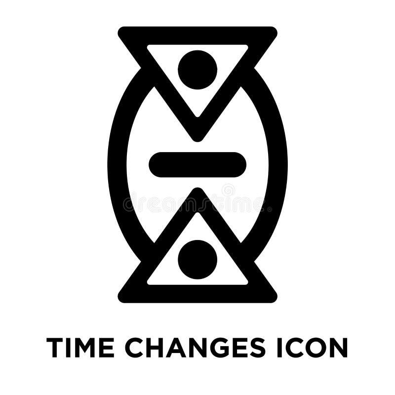 Tid ändrar symbolsvektorn som isoleras på vit bakgrund, den conc logoen stock illustrationer