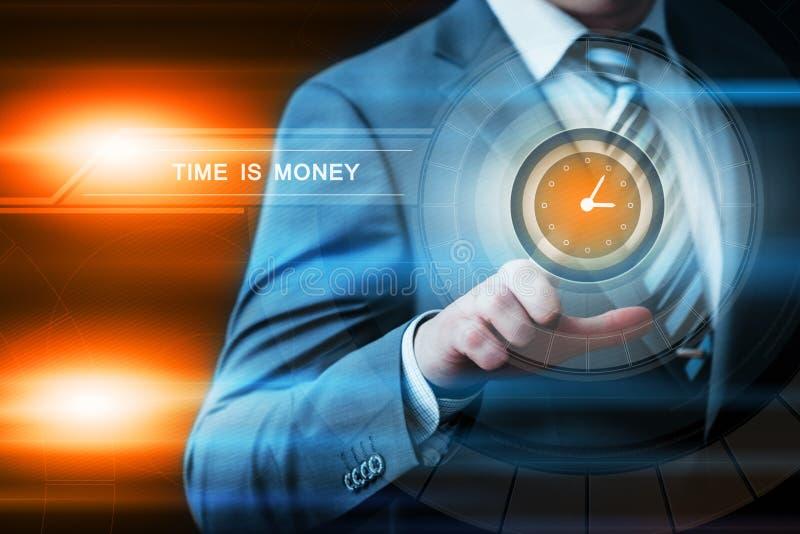 Tid är begreppet för internet för teknologi för affären för pengarinvesteringfinans royaltyfri foto
