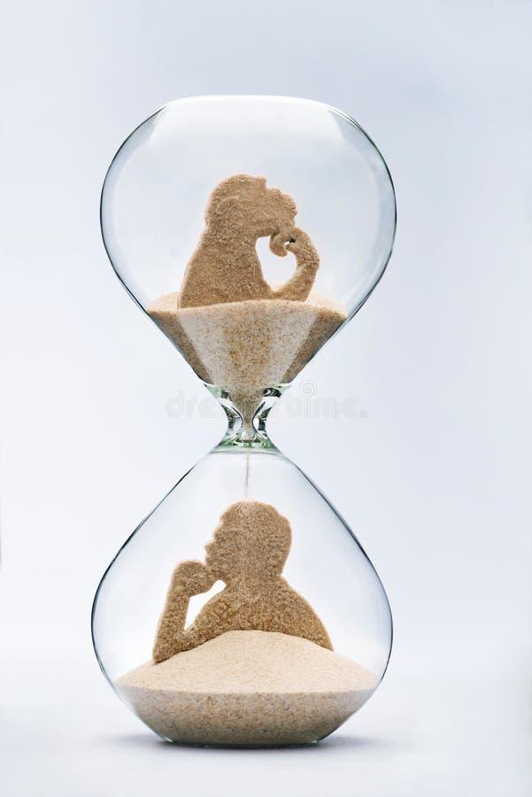 Tid är evolution arkivfoton