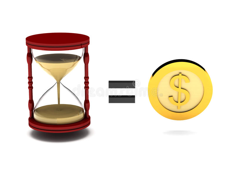 Tid är pengar stock illustrationer