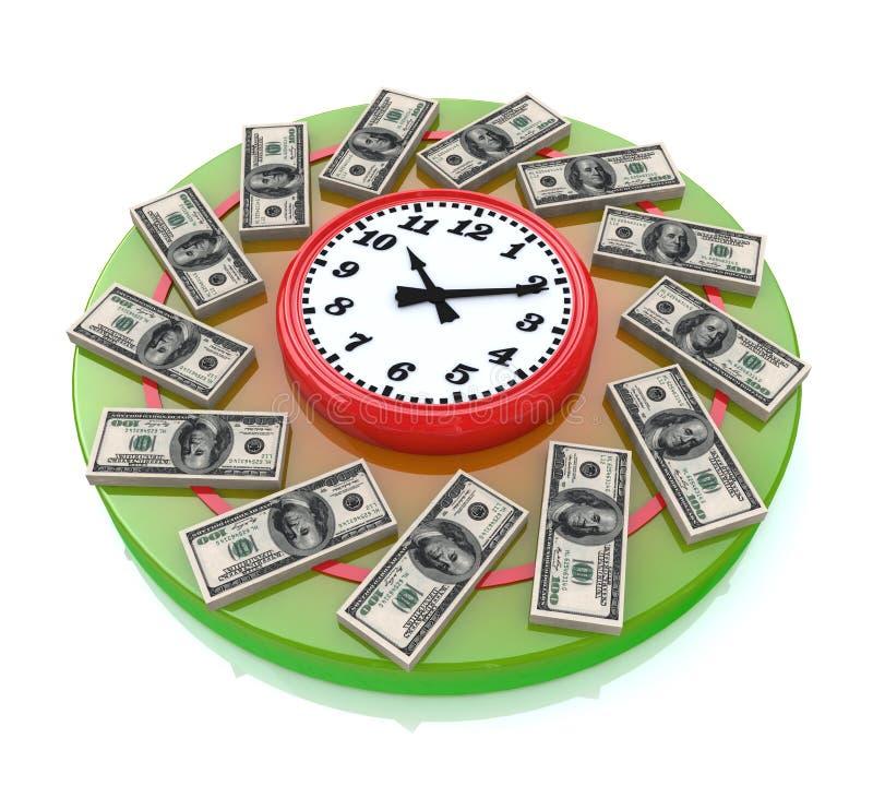Tid är pengar royaltyfri illustrationer