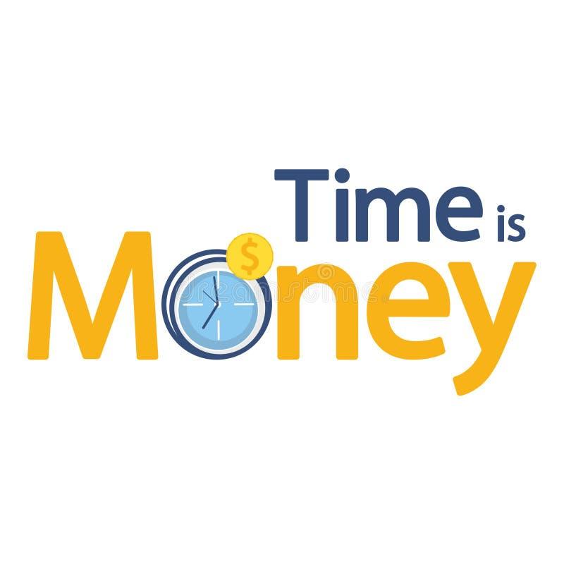 Tid är pengaraffären royaltyfri illustrationer