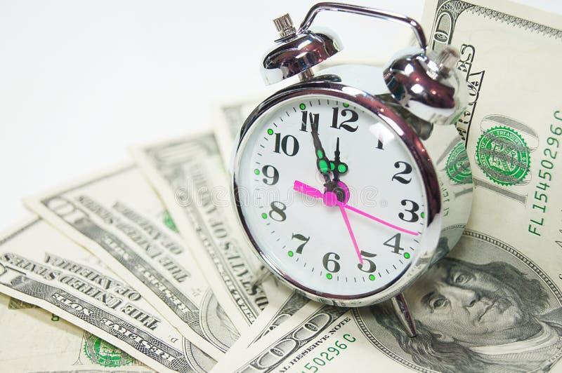 Tid är Pengarbegreppet Arkivbilder