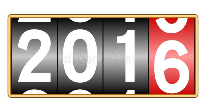 Tid 2016 stock illustrationer