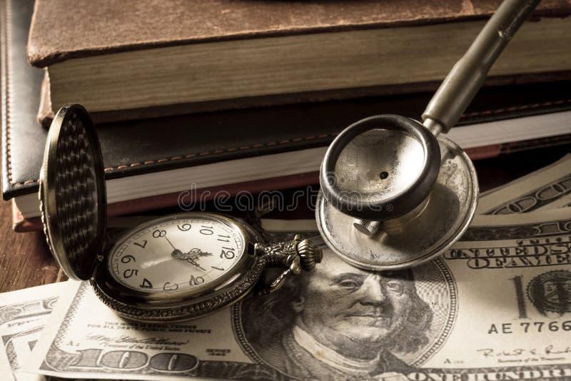 Tid av den medicinska affären arkivfoto