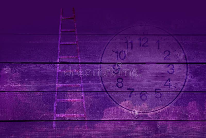 Tid begrepp utöver tid stock illustrationer