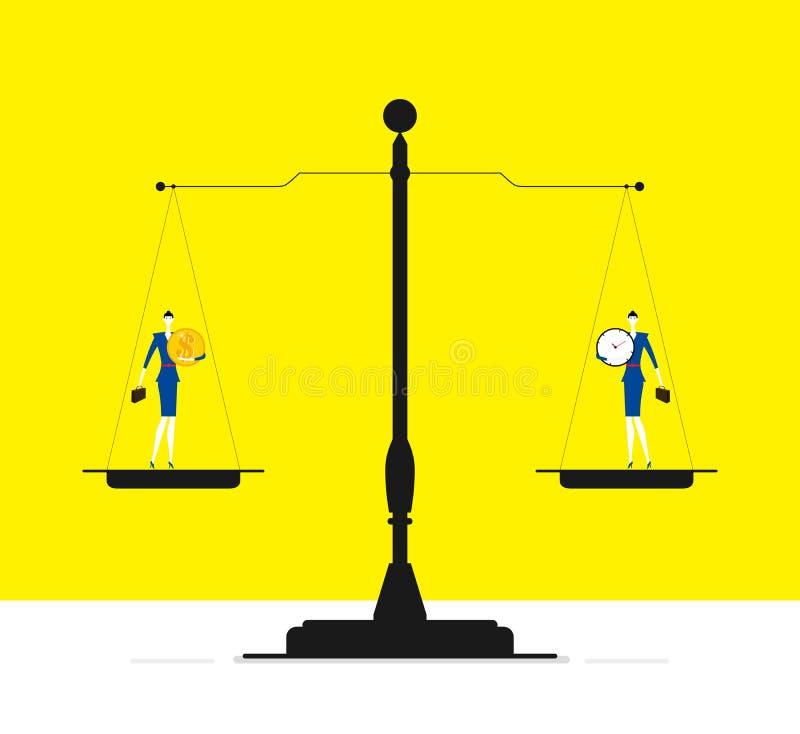 Tid eller pengar? royaltyfri illustrationer