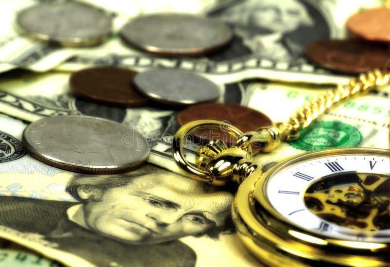 tid för 2 pengar royaltyfri bild