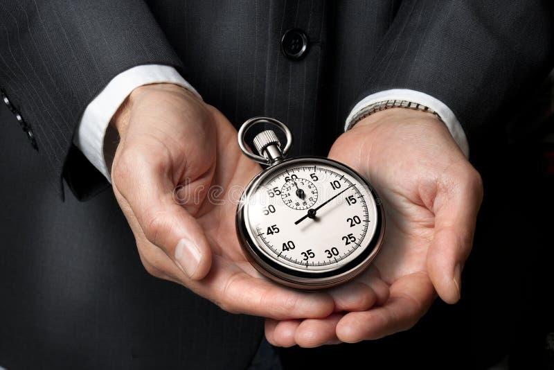 tid för affärskarriärklocka arkivbild