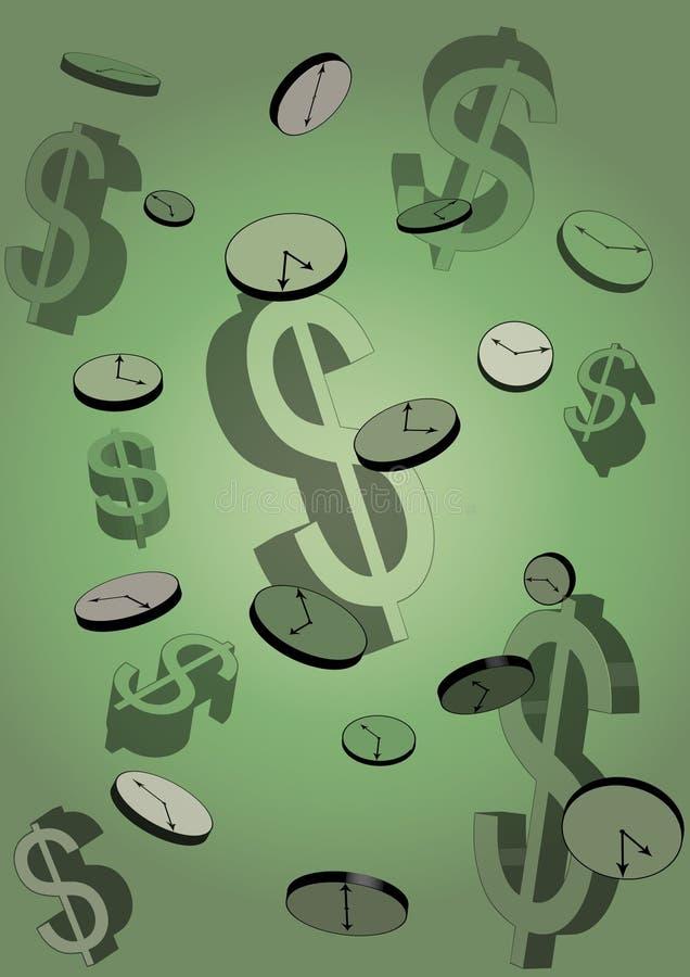 tid för begreppsillustrationpengar vektor illustrationer