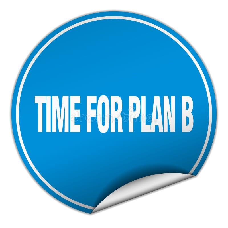 tid för klistermärke för plan b stock illustrationer