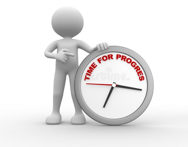 Tid för progress stock illustrationer