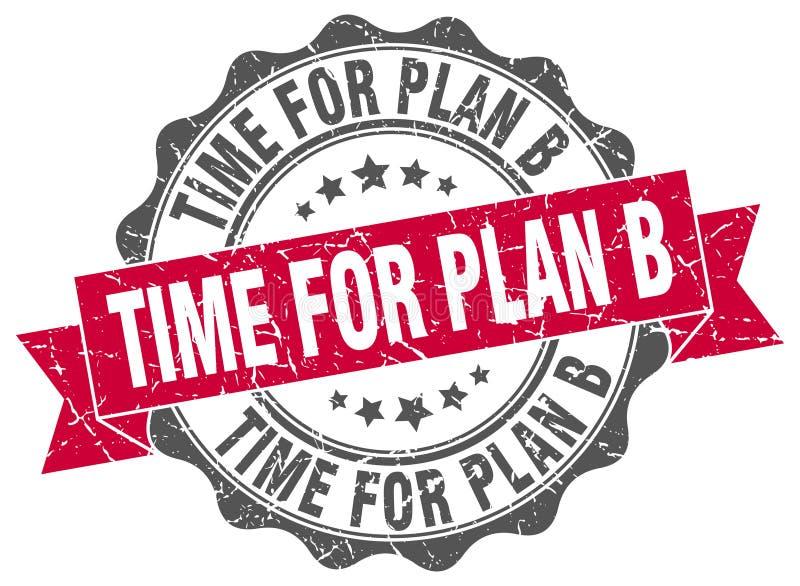 tid för skyddsremsa för plan b stämpel royaltyfri illustrationer