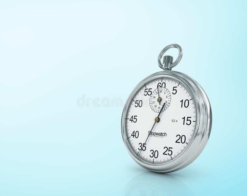 tid för stopwatch för blå apparat för bakgrund mått vektor illustrationer