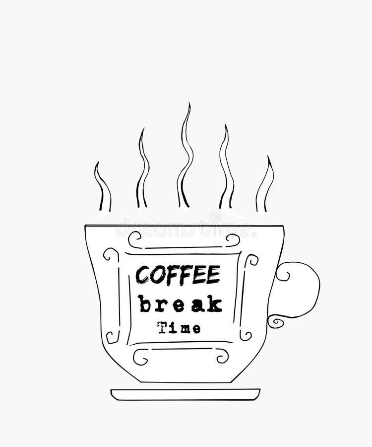 Tid f?r kaffeavbrott arkivfoton