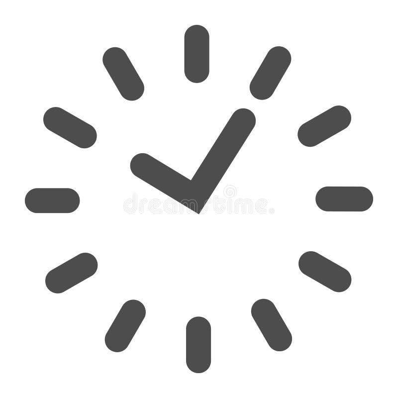 Tid heltäckandesymbol Uppdelning på visartavlavektorillustrationen som isoleras på vit Design för klockaskårastil som planläggs f vektor illustrationer