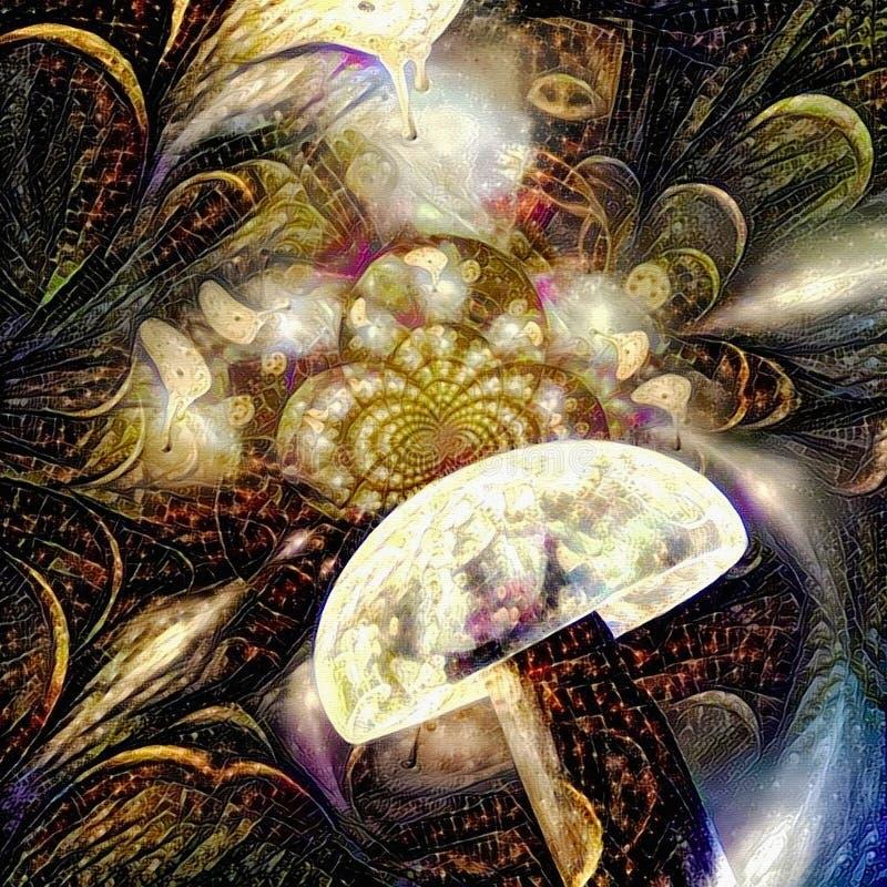 Tid illusion royaltyfri illustrationer