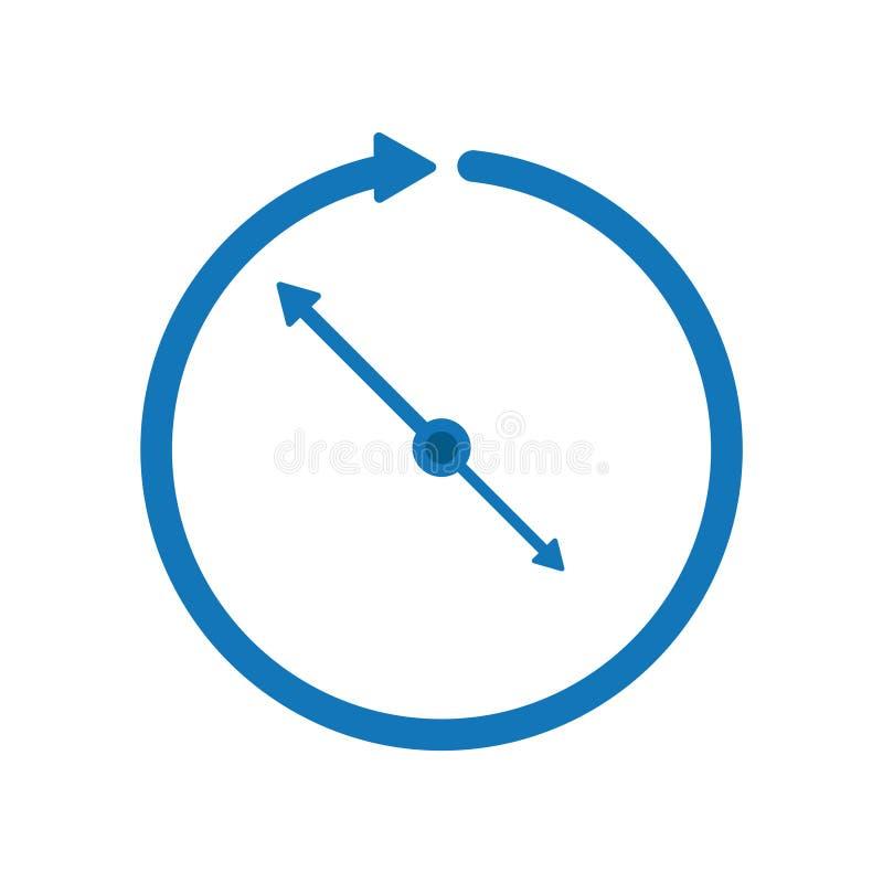 Tid klocka, affärstid stock illustrationer