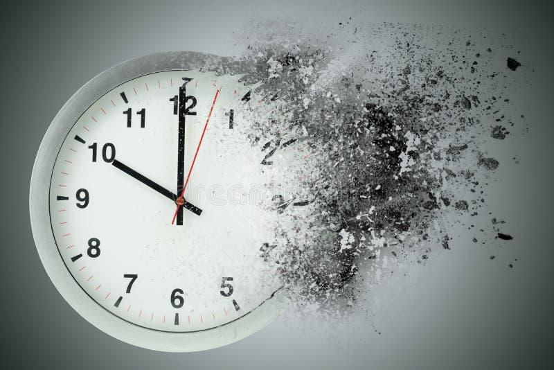 Tid passerande, upplöser Begrepp av att försvinna tid vektor illustrationer