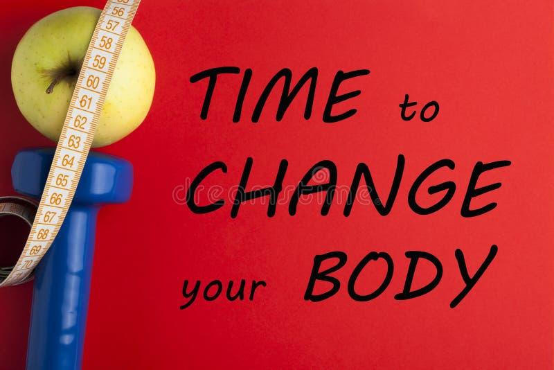 Tid som ändrar din kropp arkivfoto