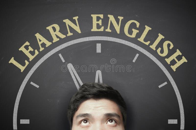 Tid som lär engelskt begrepp royaltyfri foto
