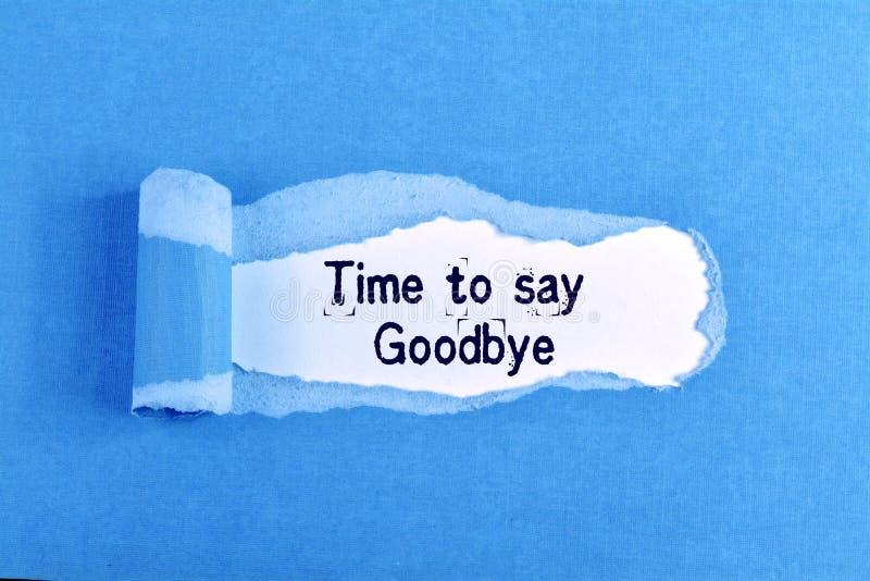 Tid som säger farväl royaltyfri foto