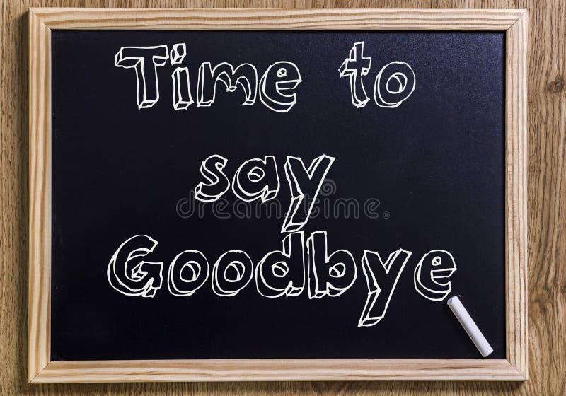 Tid som säger farväl arkivfoto
