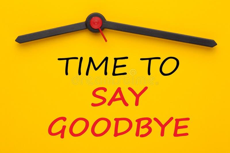 Tid som säger farväl arkivfoton