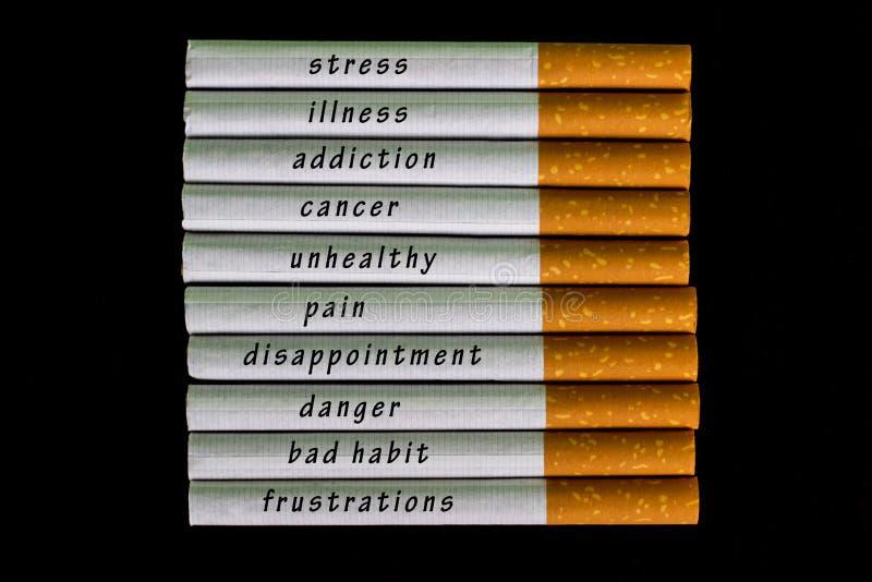 Tid som ska stoppas röka cigaretten royaltyfri bild