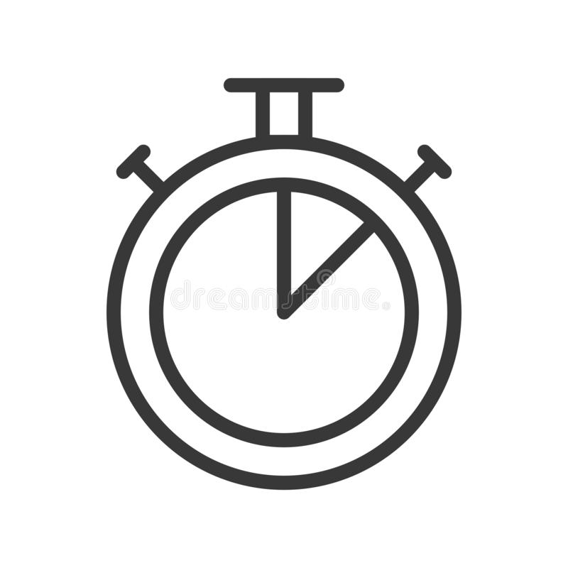 Tid stoppur, PIXEL för slaglängd för översiktsdesign perfekt redigerbart vektor illustrationer