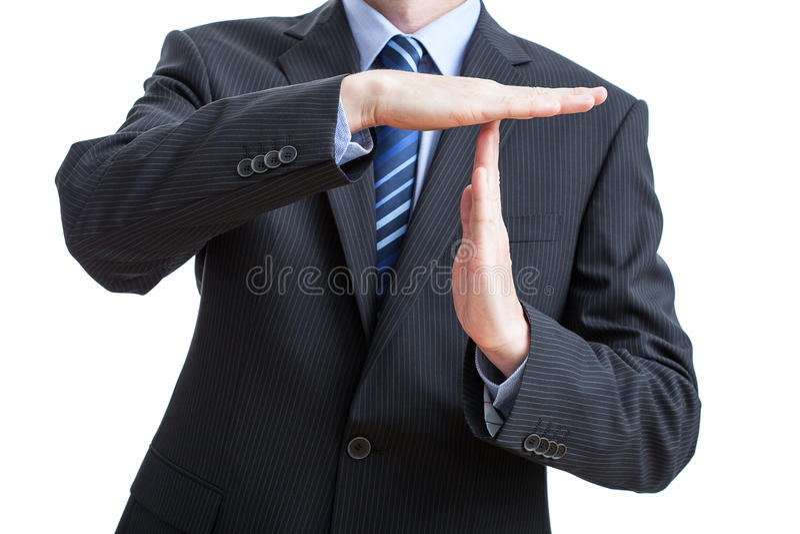 Tid ut gör en gest royaltyfria bilder