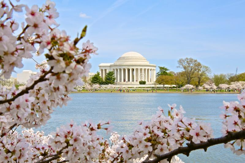 Tidal Basin Jefferson Memorial Washington DC stock images